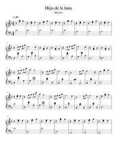 Hijo de la Luna- Mecano Para PIANO