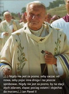 Poetry Quotes, Me Quotes, Pape Jeans, Papa Juan Pablo Ii, Polish Words, Weekend Humor, Pope John Paul Ii, God Loves Me, Motivational Words