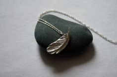 Feather Pendant by LiquidSilverDesigns on Etsy