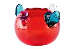 Oiva Toikka - pompom bowl Nordic Design, Scandinavian Design, Glass Design, Design Art, Decorative Accessories, Wind Chimes, Sculpture Art, Glass Art, Perfume Bottles