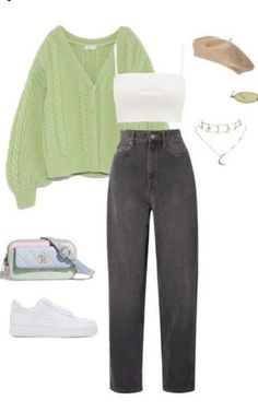 Girls Fashion Clothes, Teen Fashion Outfits, Retro Outfits, Fall Outfits, Swaggy Outfits, Cute Casual Outfits, Stylish Outfits, Mode Ootd, Teenage Outfits