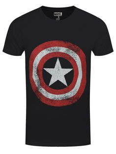 Do you have the courage and ingenuity to defend America from the Nazis? Take a leaf out of Steve Rogers' book and stand proud in defense of your nation, with this awesome Captain America T-Shirt from Marvel. Featuring the patriotic Avenger's indestructible shield, this tee is sure to bring out your superpowers. Official merch.