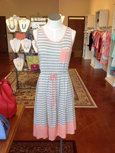 Pretty Stripped casual dress from Gigi's Boutique!