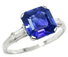 natural views ct untreated ring sapphire more blue cut engagement royal asscher