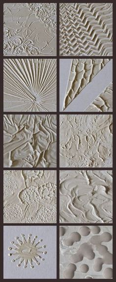 10 ways to use modeling paste to createtexture in a painting