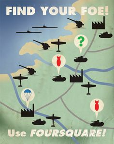 Foursquare Propaganda Poster