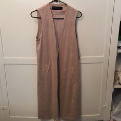 Zara Basic Vest Suede vest with minor details. Open in the back (upside down v). Two pockets. #fashion #suede #zara #basic #vest #suedevest Zara Jackets & Coats Vests