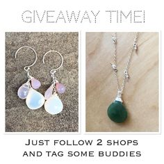 G I V E A W A Y T I M E Its Giveaway Time!  One lucky winner will take home both of these pieces! Calcedony earrings from me and a green garnet necklace from @toscabelladesigns  Want to Enter? Just follow these easy steps!  1. FOLLOW ME (@kuriyasuno) 2. Like this post 3. FOLLOW (@toscabelladesigns) 4. TAG two friends that would love to win! Maybe they will share the prize with you  (no giveaway accounts please) 5. TAG more friends for more chances to win. Every additional two tags is another…