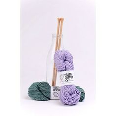 This milk bottle is perfect to store your #knitting #needles, ins't it?