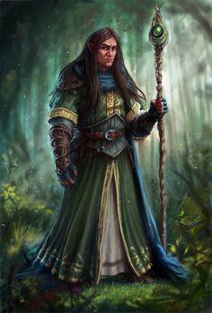 Half-Elf Wizard by SHAWCJ.deviantart.com on @DeviantArt