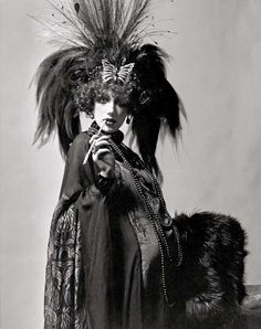 Marisa Berenson dressed as the Marchesa Casati - complete with red wig - for the Rothschild Proust Ball, December 1971.  Photographed by Cecil Beaton.