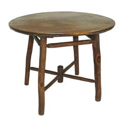 rustic hickory breakfast  table