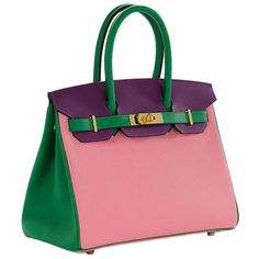 Pink and green handbag | Women's purses | Pinterest | Green ...