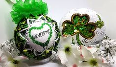 St. Patrick's Day Quilted Keepsake Ornament Irish Welcome by OrnamentsByRebeccaT on Etsy https://www.etsy.com/listing/498354538/st-patricks-day-quilted-keepsake