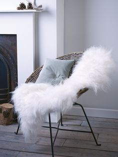 Made from the softest Icelandic ivory sheepskin, this soft textured Scandinavian inspired hide rug is both warm and tactile. Made from natural long pile sheepskin, it is the ideal decorative throw for any chair or sofa. As seen in The Sunday Times. Home Living Room, Living Spaces, Animal Skin Rug, Sheepskin Throw, Cosy Corner, Decoration, Bedroom Decor, Bedroom Ideas, Lounge