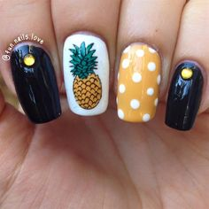 Image result for pineapple nails