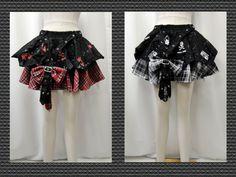 【楽天市場】ゴスロリ ゴスパンク アシンメトリー チェック リボン ティアードミニスカート 2色:PARROT