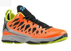 Mens Air Jordan CP3 VI Chris Paul Nitro QS Total Orange lime Green CP3 Shoes 2013