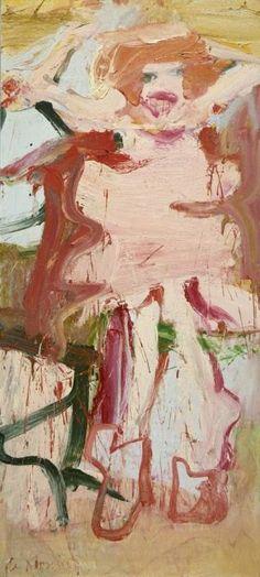9 Willem de Kooning (1904-1997) Vanaf 1955 leek hij zich te richten op het symbolische aspect van vrouwen, zoals gesuggereerd wordt door de titel van het schilderij Woman as Landscape, waarin de figuur bijna wordt opgeslokt door de abstracte achtergrond. Hierna volgt een serie landschappen. In die tijd maakte hij zijn kunst zodanig te gelde dat hij de armoede definitief achter zich kon laten.
