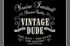 Vintage Dude Birthday Invitations,- Party Junction offers a huge range of Discount party supplies and Party Balloons with thousands of theme party supplies, birthday party supplies, tableware, decorations, costumes and accessories.
