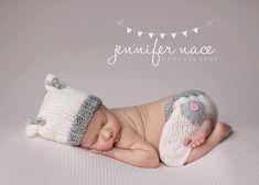 Baby girl set Newborn Hat and Pants baby от Knitzbybeansknots, $54.00
