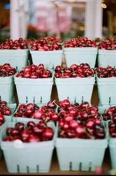 cherries at the farmers market