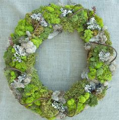 FOR TRACEY Moss Wreath  Rustic Decor for Home or by seekimothy