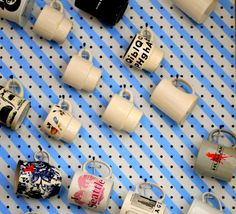 Mug Storage solutions. 49 Modern Mug Storage solutions Ideas. K Cup Storage solution Ikea Lined with Burlap Coffee Mug Storage, Coffee Mugs, Coffee Shop, Diy Peg Board, Peg Boards, Small Kitchen Ideas On A Budget, Simple Kitchen Design, Modern Mugs, Kitchen Designs Photos