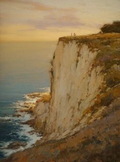 Ocean Cliffs, Palos Verdes by Brian Blood - Oil