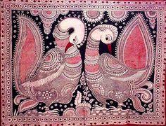 Indian Painting Styles...Kalamkari Paintings (Andhra Pradesh)-peacock1-3-.jpg