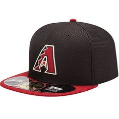 sale retailer 7ef30 91580 Arizona Diamondbacks New Era On Field Diamond Era 59FIFTY Fitted Hat -  Black Red