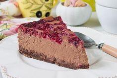 Čokoládovo tvarohový koláčik s malinami