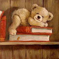 Tableau Ourson étagère 06, TABLEAU Ourson Tole Painting, Fabric Painting, Teddy Bear Sketch, Photo Ours, Art D'ours, Teddy Bear Party, Teddy Bear Pictures, Bear Illustration, Vintage Teddy Bears