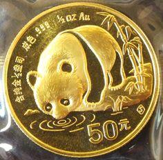 A Chinese Panda 1/2 oz Gold coin
