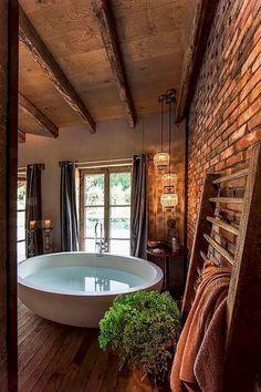 Nice 40 Captivating Rustic Bathroom Remodel Ides https://homstuff.com/2017/08/03/40-captivating-rustic-bathroom-remodel-ides/