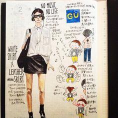 Fashion Art, Girl Fashion, Fashion Outfits, Fashion Design, Street Fashion, Illustration Mode, Cartoon Design, Spring Looks, Smash Book