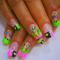 Little Girl Nails, Girls Nails, Ruby Nails, Bling Nails, Get Nails, Hair And Nails, Nail Designs Spring, Nail Art Designs, Luxury Nails