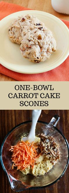 This one bowl carrot cake scones recipe is easy to make ahead and delicious!