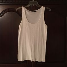 Apt9 white sequined tank top Apt9 white sequined tank top. All sequins still on. Apt. 9 Tops Tank Tops