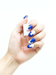Nail Polish Trends Summer 2013, 2014: 5 Best Nail Art Designs Inspired By Swimsuits: Polka Dots, Plaid, Leopard, Color-Blocking Bathing Suits