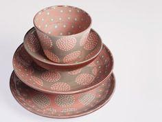 Ceramics by Katrin Moye at Studiopottery.co.uk - Saga pink set