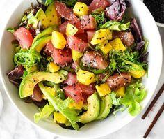 Ahi Tuna Poke and Mango Salad     Poke Bowl Recipes To Try At Home
