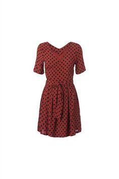 Ganni Polkas and Roses dress