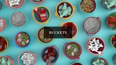 """Buckets"" speaks to the inherent curiosity of all creative people. In this short animation, we reimagined the content of different everyday objects in… 3d Artist, Everyday Objects, Creative People, Motion Design, Creative Director, Some Fun, Buckets, Create, Motion Graphics"