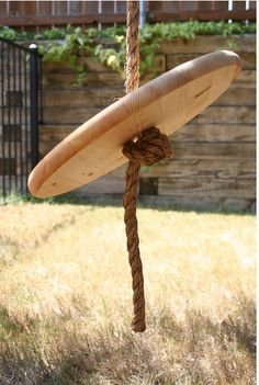 Give your kids incentive to go outside by putting up this easy rope swing.
