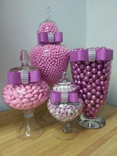 We have helped hundreds of customers plan their wedding shower and reception candy buffet. We have expert advice all the wedding candy and supplies you need to create the ultimate wedding candy bar… Candy Buffet Tables, Candy Table, Food Buffet, Buffet Ideas, Dessert Tables, Elegant Candy Buffet, Purple Candy Buffet, Thema Paris, Bar A Bonbon