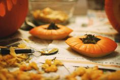 Carving Pumpkins by Simply Stardust, via Flickr