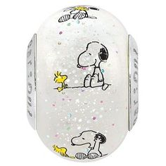 Snoopy & Woodstock Glass Bead