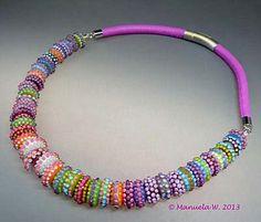 Artist handmade lampwork glass bead necklace by ManuelasGlassArt, $675.00