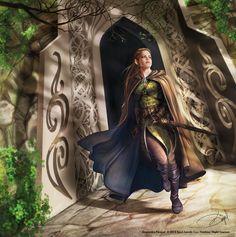 Elves of the Wooldand Realm and Lorien for Fantasy Flight Games by Draženka Kimpel Fantasy Races, Fantasy Warrior, Fantasy Rpg, Medieval Fantasy, Fantasy Girl, Fantasy Artwork, Inspiration Drawing, Fantasy Inspiration, Character Inspiration